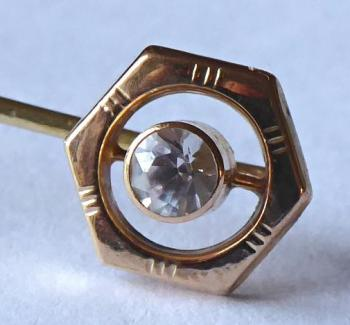 Tie Pin - gold, sapphire - 1930